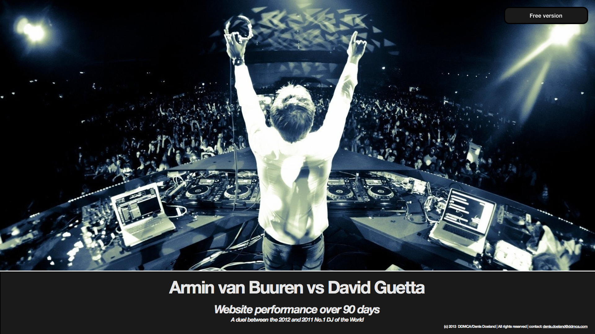 Presentatie 'A duel for the web - Armin van Buuren vs David Guetta' (klik om gratis te downloaden)