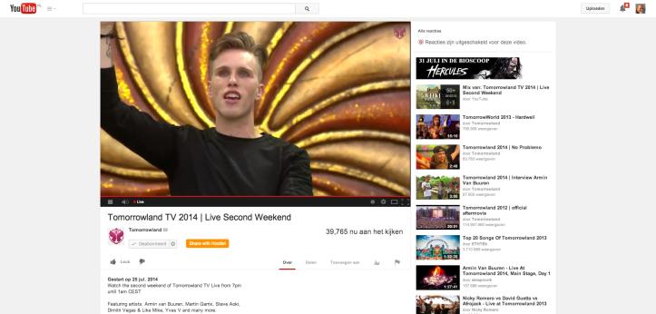 Tomorrowland 2014 live op YouTube